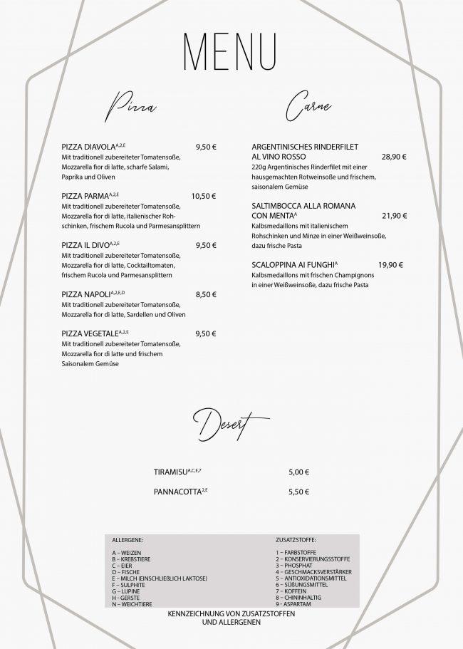 4-Il Divo - Speisekarte Pizza-Carne